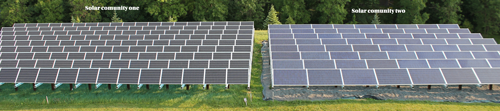 WH Solar has two solar communities located at Wright-Hennepin Electric's Rockford headquarters