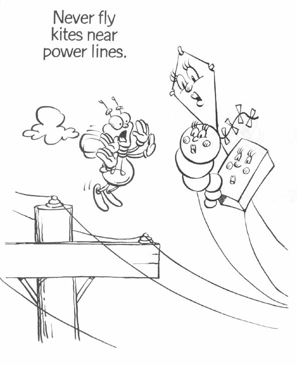 printable electrical coloring pages - photo#12