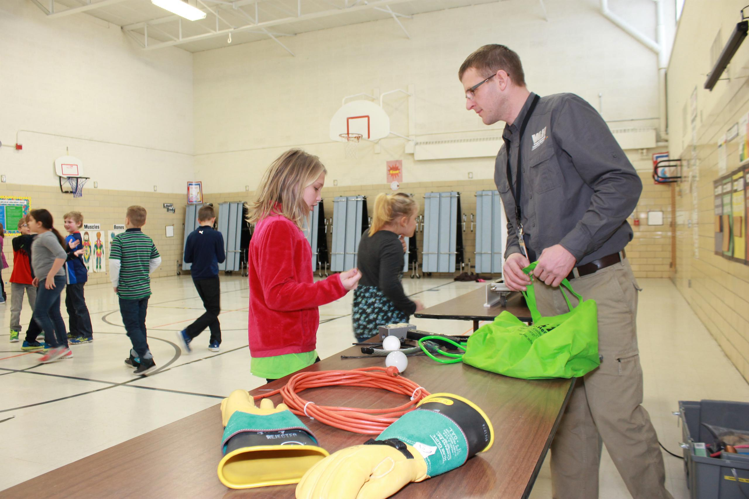 Wright-Hennepin Electric helps teach students about safety at their school